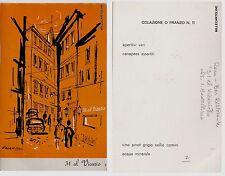 "# ROMA: BAR RISTORANTE ""31 AL VICARIO"" - dis. I. BADELLINO - cartoncino"