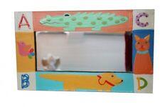 Hübscher Holz Spiegel Kinderspiegel Wandspiegel handbemalt ABC 35cm x 21cm