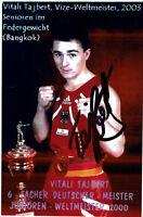 Vitali Tajbert - original signierte Autogrammkarte - Boxen - hand signed