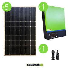 Kit solare fotovoltaico 1.5kW 48V pannello solare inverter edison V3 5KW MPPT 80