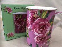 'Chintz Rose' The Leonardo Collection Fine China Mug (Pink)