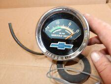 Vintage Pontiac Manifold Vacuum gauge Chrome pod Gto Grand Prix Console 9770337