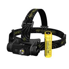 NiteCore HC60 HC60W Cree XM-L2 Neutral White LED USB Headlamp Headlight +Battery
