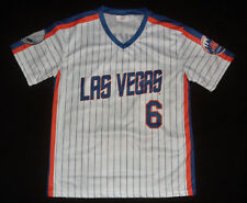 NEW LAS VEGAS 51s #51 NEW YORK METS WALLY BACKMAN Baseball SGA Striped JERSEY XL