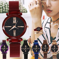 Quartz Stainless Steel Band Magnet Buckle Starry Sky Analog Wrist Watch XIU