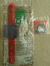 La Liga De La Justicia/Hello Kitty Reloj Mcdonalds Happy Meal Juguete Nuevo-Nuevo Y En Caja