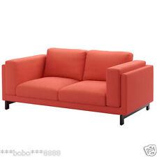 "IKEA NOCKEBY  two seat sofa Cover in ""Risane Orange 60280451 ref.0501"