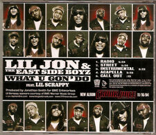 LIL JON & THE EAST SIDE BOYZ - What U Gon' Do (CD Promo 2004) 5 Track Single