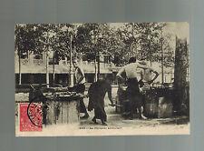 1906 Saigon Vietnam RPPC Postcard Cover to Prague Austria Street Vendors