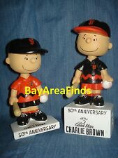 2 San Francisco Giants 2017 Charlie Brown Bobblehead Reg & SE with soundchip