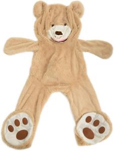 "Life Size Huge Plush Teddy Bear Unstuffed Soft Giant Animal Toy Giant Bear 63"""