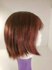 Revlon Kanekalon Spectrablend Dark Brown / Auburn Shoulder Length Wig costume