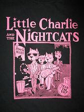 vtg 80s 90s LITTLE CHARLIE & NIGHTCATS T SHIRT Jump Blues Swing Concert Baty XL