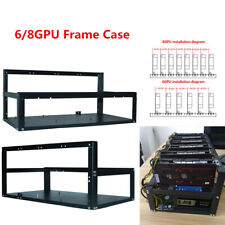 Stackable For 6/8 GPU Crypto Coin Rack Open Mining Rig Frame Mining Ether Tool