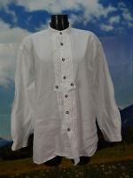 Gr.L Trachtenhemd Distler weiss luftige Baumwolle mit gerader Form  TH825