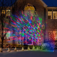 Lightshow Kaleidoscope 8-Light Multi-Color Round Projection String Lights