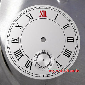 38.9mm black dial fit ETA 6498 seagull movement Roman numeral Watch  D11