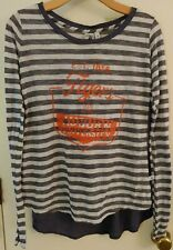 Auburn University Shirt Multi Fabric Navy White Orange Women's Size Small NEW