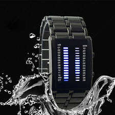 Binary LED Watch Lron Man Full Of High-grade Waterproof Cool Lava Watch Joli