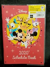 Disney 2020 Red Schedule Book B6 School Diary Calendar Mickey Mouse Friend Japan