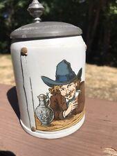 Mettlach Beer Stein Artist 1642 3/10L
