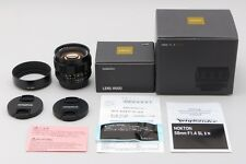 MINT in Box Voigtlander Nokton 58mm f/1.4 MF SL II Lens For Nikon with Hood Box