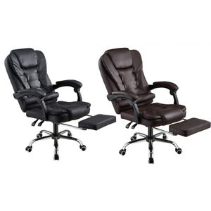 Office Chair Executive Managerial Chair Reclining comfortable with Footrest UK
