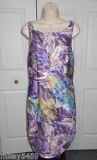 JENNIFER LOPEZ Women's Purples Print Pintuck Stipe Lined Bodycon Dress Size S
