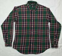 Polo Ralph Lauren Green Label Boys XL Green/Red Plaid Button Down Shirt D2