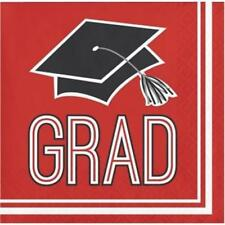 Graduation School Spirit Red Beverage Napkins 36 per Pack