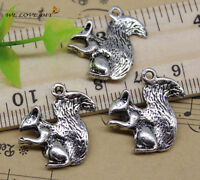 20pcs retro Jewelry Making Lovely squirrel charms pendant DIY 21x18 mm