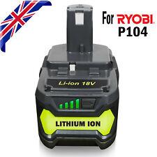For Ryobi 18V ONE+ Plus RB18L50 RB18L40 P104 4.0Ah P108 P106 P500 Li-ion Battery