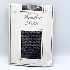 Jonathan Aston Fish Net B/C Fashion Hosiery Black # 2061