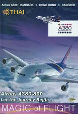 Airbus A380 Cockpit Thai Airways Bangkok Hong Kong DVD
