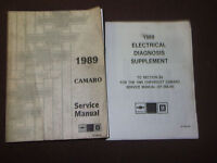 1989 CHEVY CHEVROLET CAMARO SS Z28 RS Service Shop Repair Manual Set FACTORY 89