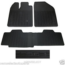 OEM NEW 2011-2014 Ford Edge All-Weather Vinyl Floor Mats, BLACK w/ Edge Logo