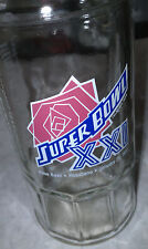 Super Bowl XXI Rose Bowl Pasadena January 25, 1987 Collectors Glass