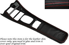 RED STITCH FITS PORSCHE 944 968 86-95 CENTRE CONSOLE TUNNEL LEATHER COVER ONLY
