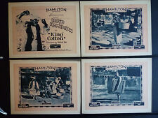 1925 KING COTTON - FULL SET OF 8 LOBBY CARDS - BLACK AMERICANA - RACIST SILENT
