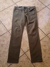 Sz 25 Ankle J.Crew Jeans Women's ToothPick Ankle Olive Green Denim Jeans