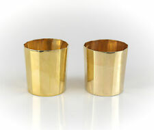 Pair French Gilt Sterling Silver Tetradecagon Lobed Shot Jiggers / Cups, c1860