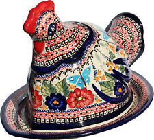 Polish Pottery Chicken from Zaklady Boleslawiec Polish GU1328/149ar