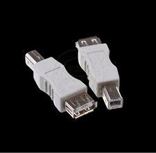 USB B Male (Printer Scanner) to USB 2.0 Female Adapter Converter Connector Plug