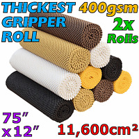 2x GRIPPER ROLL Anti Skid Non Slip Carpet Mats Rug Grip Runner Slide Furniture