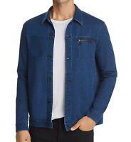 John Varvatos Star USA Men's Button Front Denim Trucker Shirt Jacket Indigo