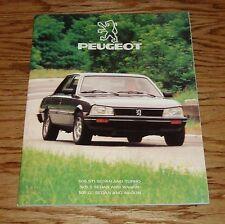 Original 1985 Peugeot 505 Sales Brochure 85 Sedan Turbo Wagon