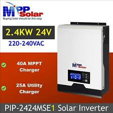 (MSE1) Solar inverter 24v 2400w 230vac 40A MPPT solar charger 25A battery charge
