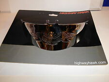 "Highway Hawk Large 7"" Headlight Visor Set - Chrome fits 7"" headlights BC1952 - T"