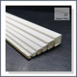 ABS Styrene 6pcs Mixed Square Tube - Suitable for all Model Making