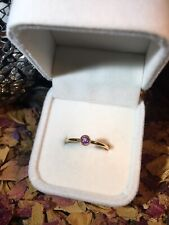WOW! Natural Certified Untreated Pink Sapphire 4mm 14k yellow gold ring 7.5US 💗